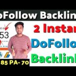 Create Instant Approval Dofollow Backlinks 2020 | Do follow Backlinks | Create Dofollow Backlinks |