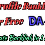 Free Do-Follow Profile Backlinks (Instant Approval 87 DA)