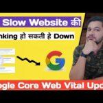 Google Core Web Vital : SEO Update 2021 | Website Speed Ranking Issue