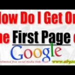 Google Website Ranking - How To Get On The First Search Page Quickly And Improve Web Rank