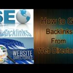 How to do SEO for a website || Get backlinks from web directories to rank high in google