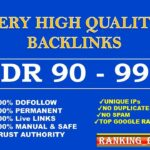 I will build high quality dofollow backlinks for seo service