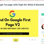Land on Google 1st page with High DA Web 2 0 Backlinks for $16 On SEOClerks