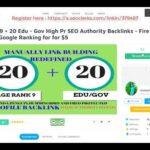 20 Pr9 20 Edu Gov High Pr SEO Authority Backlinks Fire Your Google Ranking On SE