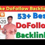 53+ Instant Approval High Quality Do Follow Backlinks 2020 | Create DoFollow Backlinks 2020 |