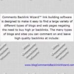 Blog Comments + Backlinks to Many Different Blog Types