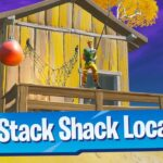 Catch a weapon at Stack Shack Location - Fortnite Battle Royale
