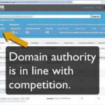 Checking a site's backlinks, link text, and domain authority