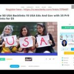 Create 50 USA Backlinks 15 USA Edu And Gov with 35 Pr9 Backlinks for $5 On SEOCl