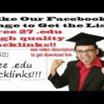 free 27 edu backlinks