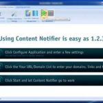 Content Notifier   Simple software to boost your search engine rank