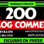 Do manual blog comments backlinks - Best SEO service