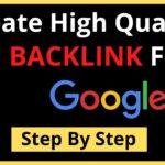 How To Create High Quality Backlink Free   High DA PA Backlinks   Create Backlinks