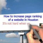 How to increase page ranking of a website in Houston