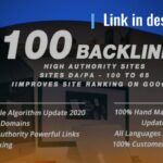 I will rank higher in google with 110 high authority seo backlinks