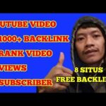 Tips SEO-Youtube Video Backlink Generator Menaikkan Rank Video