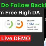 Create Do follow Backlink from  High DA PA Website