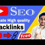youtube seo || How to create backlinks for youtube videos || grow channel fast